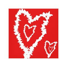 Love cool Red heart Design Canvas Print