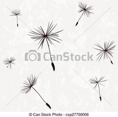 Vector - silhouettes of dandelion seeds in the wind - stock illustration, royalty free illustrations, stock clip art icon, stock clipart icons, logo, line art, EPS picture, pictures, graphic, graphics, drawing, drawings, vector image, artwork, EPS vector art