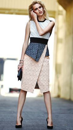 Proenza Schouler <-- Great dress that can be paired with a fitted jacket (grey, navy, khaki, deep red, etc.)