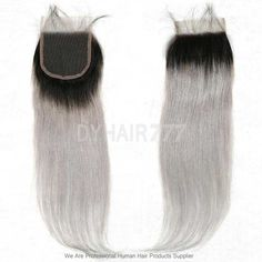 Lace Top Closure (4*4) Straight Hair 1B/Grey Human Virgin Hair|Website: www.dyhair777.com Email: info@dyhair777.com Whatsapp:+86 159 2057 0234 Pin Code:-----777444----save $10 #dyhair777 #humanhair #hairextension #virginhair #beauty #fashion #salon #hair #dygirl #hairstylist
