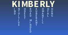 Your name: Kimberly - What does your name mean?