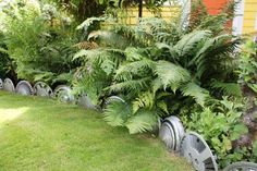 36. Up-cycle Hubcaps into Garden Edging