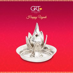 On this joyous festival of Ugadi usher in prosperity and happiness by buying silver articles! Silver Charms, Silver Jewelry, Gold Jewellery, Silver Pooja Items, Silver Lamp, Pooja Room Design, Silver Ornaments, Silver Gifts, Jewelry Shop
