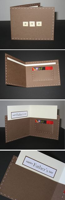 Father's Day Wallet Card I made for Father's Day 2012. Inspired by: http://pinterest.com/pin/278378820687198822/