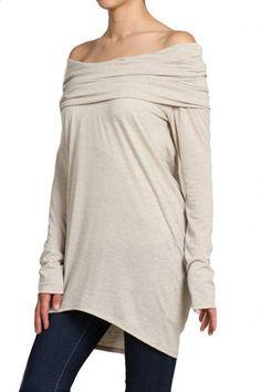 Willow Convertible Long Sleeve Tunic - Oatmeal