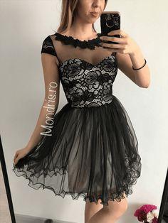 Rochie de seara neagra din tul si corset cu dantela Formal Dresses, Black, Fashion, Tulle, Dresses For Formal, Moda, Formal Gowns, Black People, Fashion Styles
