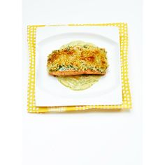 Panko-Crusted Salmon with Curried Yogurt Sauce
