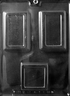 1 SQUARE/2 RECT. BAR Miscellaneous Chocolate Candy Mold
