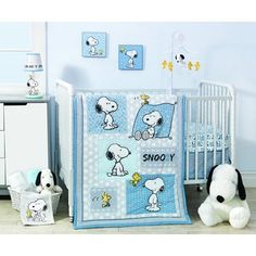 Everyone's favorite canine has a background of modern patterns. A cuddly appliqued Snoopy is positioned on the lower right corner of the quilt. Features silhouettes of Snoopy on braided pattern.