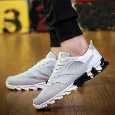 Nuevo Moda para Hombre Informal Tenis Zapatos Deportivos Calzado Atlético  corriendo al aire libre  runningClothes 75961398207a7