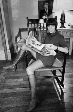 Mary Quant- inventing the miniskirt and hot pants...
