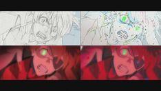 animated genga genga_comparison mecha neon_genesis_evangelion rebuild_of_evangelion tetsuya_nishio