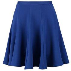 Closet Aline skirt (80 BRL) ❤ liked on Polyvore featuring skirts, bottoms, saias, faldas, blue, zipper skirt, patterned skirts, blue print skirt, mid length skirts and print skirt