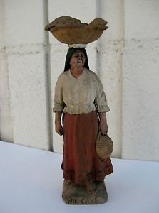 sold for $202 on eBay in 2015 - Antique-Serafin-Marsal-Clay-Statue-Paraguay-Native-Na-Caye-Folk-Art-Figurine