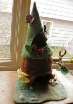 Fairy tree house by sweet pea felts