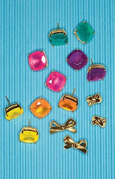 Candy colored stud earrings by kate spade new york