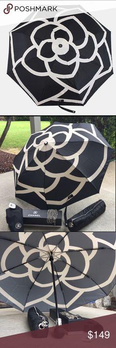 💥LAST ONE💥 Chanel Camellia Umbrella + Carry Bag VIP Chanel umbrella comes with quilted carry bag and box! CHANEL Accessories Umbrellas