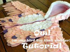 How to make an owl costume... Shelly Homemaker: Halloween