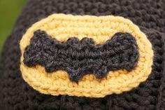 Crocheted Batman Logo - free crochet applique pattern good to make a cape