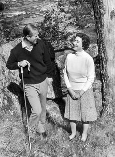 The Queen and Prince Philip in 1972 at Balmoral