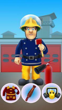 FREE!  fireman sam dress-up app!