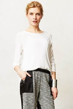 Chloe Crepe Pullover  - on sale at anthropologie!