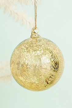 Honeyed Glass Ornament #anthropologie