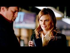 "Castle 8x17 Beckett Castle Theories Magic and Kiss in Precinct ""Death Wish"" Season 8 Episode 17 - YouTube"