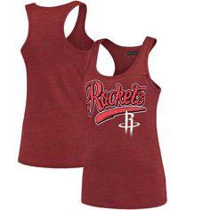 Houston Rockets New Era Women's Tri-Blend Tank Top - Heathered Red - $24.99