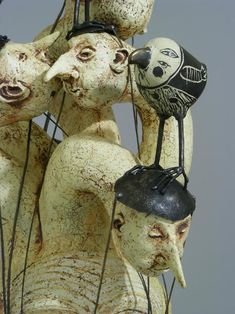 Artodyssey: Robin and John Gumaelius Sculpture Clay, Soft Sculpture, Ceramic Figures, Ceramic Art, Paper Clay Art, Mixed Media Sculpture, Unusual Art, Paperclay, Creepy Dolls