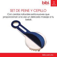 Este set de peine y cepillo es el ideal para estimular el crecimiento del cabello en tu bebé.   www.bibi.com.mx