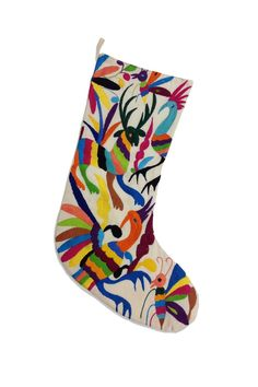Otomi Embroidered Handmade Stockings