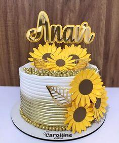 Sunflower Party, Sunflower Cakes, Birthday Party For Teens, Birthday Cake Girls, Beautiful Birthday Cakes, Beautiful Cakes, Creative Cake Decorating, Chocolate Drip Cake, Cookie Cake Birthday