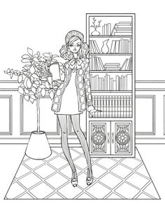 Coloring Pages For Adults Colouring Books Zentangle Colorful Fashion People Free 1st Grades Adult