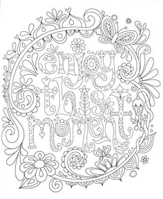 Lifes A Garden Adult Coloring Page