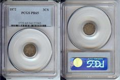 1872 SILVER 3 CENT COIN PCGS PR65 PROOF 65 Uncirculated - Certified - NICE!