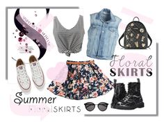 """""""The Perfect Summer Floral Skirt"""" by katiesdelight ❤ liked on Polyvore featuring WithChic, Frame Denim, Dr. Martens, Converse, Love Moschino, Yves Saint Laurent and Floralskirts"""