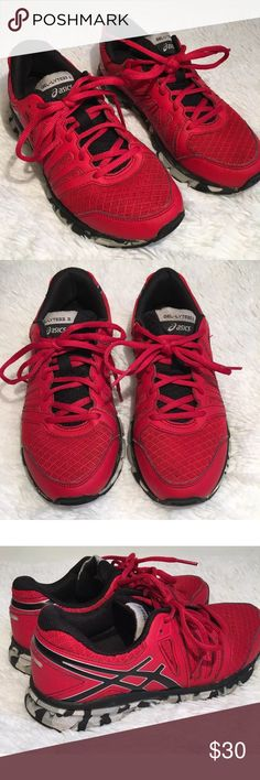 Asics Gel Lyte Sneaker Running Training Shoes Asics GEL-LYTE 33 Sneakers Size: 5 Color: Red and Black  Condition: Preowned, in good condition with only very minor wear Asics Shoes Sneakers
