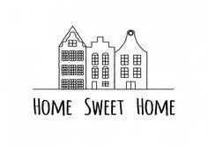 Home sweet home felicitatiekaart van Zwart Wit kaarten versturen bij Kaartwereld: 20% korting bij het maken van een gratis account.