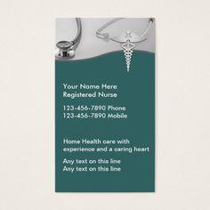 Nurse Business Cards Home HealthBusiness