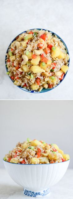 Pineapple Cashew Fried Rice I howsweeteats.com