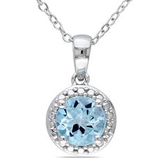 Miadora Sterling Silver Topaz Necklace, Women's