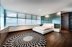 bedroom window front floor tiles wood look white bed round carpet – carpet ideas – Carpet 2020 Luxury Interior, Interior Design, Concept Home, Bedroom Windows, Best Carpet, Bedroom Accessories, Design Moderne, Bedroom Carpet, White Bedding