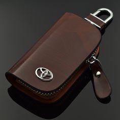 ארנקי עור שחור חום טויוטה הנצח קראון רייז קאמרי קורולה RAV4 Previa Estima תיק רכב מפתח קייס סטים עבור טויוטה