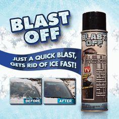 Blast Off De-Icer Get Rid of Ice