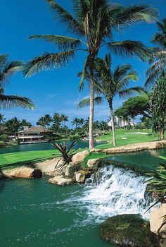 """Ko Olina Golf Club, in Kapolei, Hawaii, was called the """"Best Golf Course in Hawaii"""" by HAWAII Magazine in 2014! This course features multi-tiered greens and more! #GolfCourseOfTheDay 