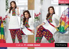 Beautiful White Purple Patiyala Suit at Rs1400 Only Visit http://enasasta.com/deal/white-purple-patiyala-suit OR Call/WhatsAp-8288886065  Product Code :- ESC28P6  Deal is Valid For Today Only Top:Cotton Bottom: Cotton Embriodered Dupatta: Chiffon Work: Embriodery Fabric : Unstitched Get 5% Extra Discount for Advance Payment on every Deal  Cash On Delivery Available!!  FREE Shipping!!