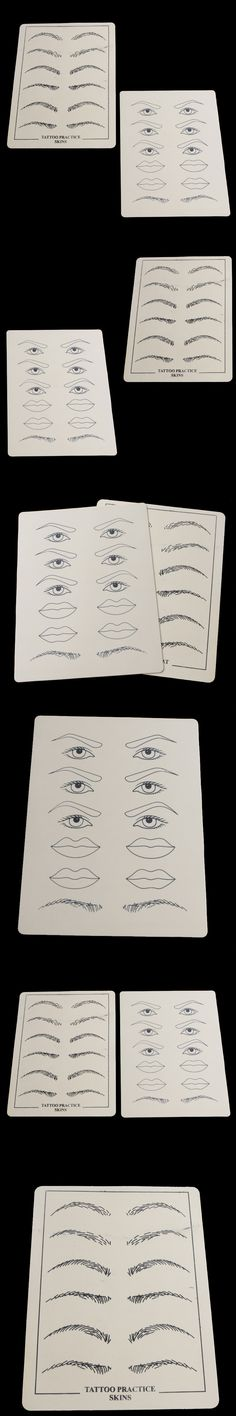 2 Sheets Permanent Makeup Eyebrow lips Tattoo Practice Skin Training Set For Beginners New Tattoo Accessory accessoire de tatoo