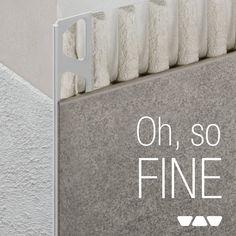 Schluter-Systems NA (@schluterNA) | Twitter Guest Bathroom Remodel, Studio Apartment Design, Tile Edge, Tile Trim, Tile Installation, Shower Enclosure, Washroom, Master Bath, Design Elements
