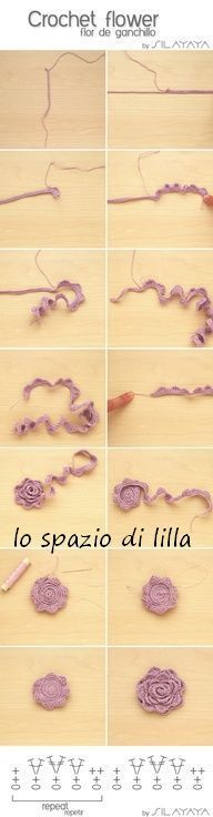 alice brans posted Tutorial How to crochet a flower - Tutorial Flor de ganchillo by SILAYAYA to their -crochet ideas and tips- postboard via the Juxtapost bookmarklet. Crochet Flower Tutorial, Form Crochet, Crochet Flower Patterns, Crochet Motif, Crochet Flowers, Crochet Stitches, Crochet Ideas, Crochet Baby Beanie, Crochet Kids Hats